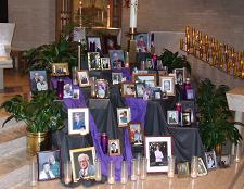 Memorial Photographs are displayed each November.